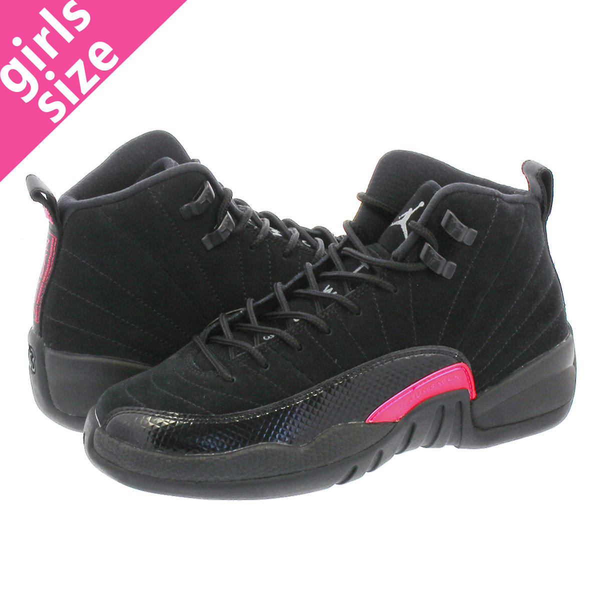 hot sale online 71163 ec170 NIKE AIR JORDAN 12 RETRO GG Nike Air Jordan 12 nostalgic GG BLACK/DARK  GREY/RUSH PINK 510,815-006