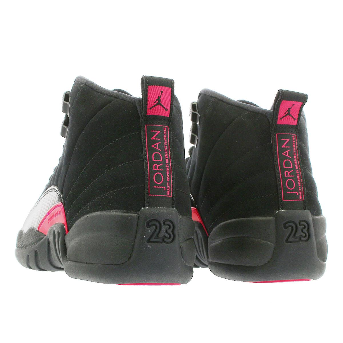 on sale df201 6d9be NIKE AIR JORDAN 12 RETRO GG Nike Air Jordan 12 nostalgic GG BLACK DARK GREY RUSH  PINK 510,815-006