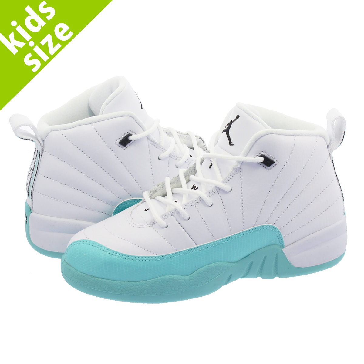 innovative design 6202b cb3de NIKE AIR JORDAN 12 RETRO PS Nike Air Jordan 12 nostalgic PS WHITE/LIGHT  AQUA/BLACK 510,816-100