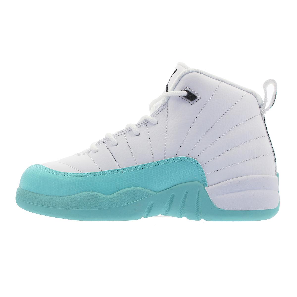 fb38ba6659e7 NIKE AIR JORDAN 12 RETRO PS Nike Air Jordan 12 nostalgic PS WHITE LIGHT AQUA  BLACK 510