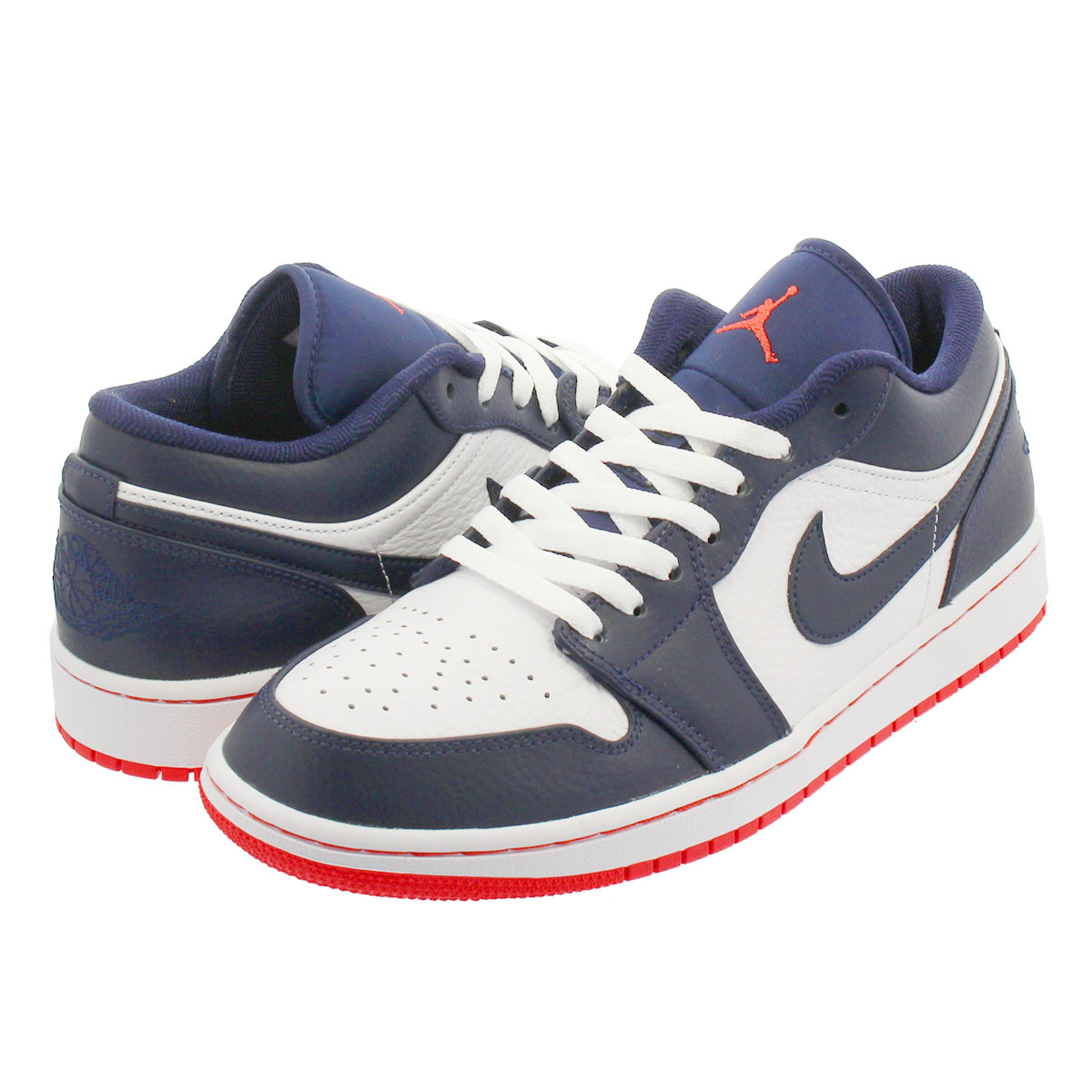really cheap reputable site elegant shoes NIKE AIR JORDAN 1 LOW Nike Air Jordan 1 nostalgic low OBSIDIAN/EMBER  GLOW/WHITE 553,558-481