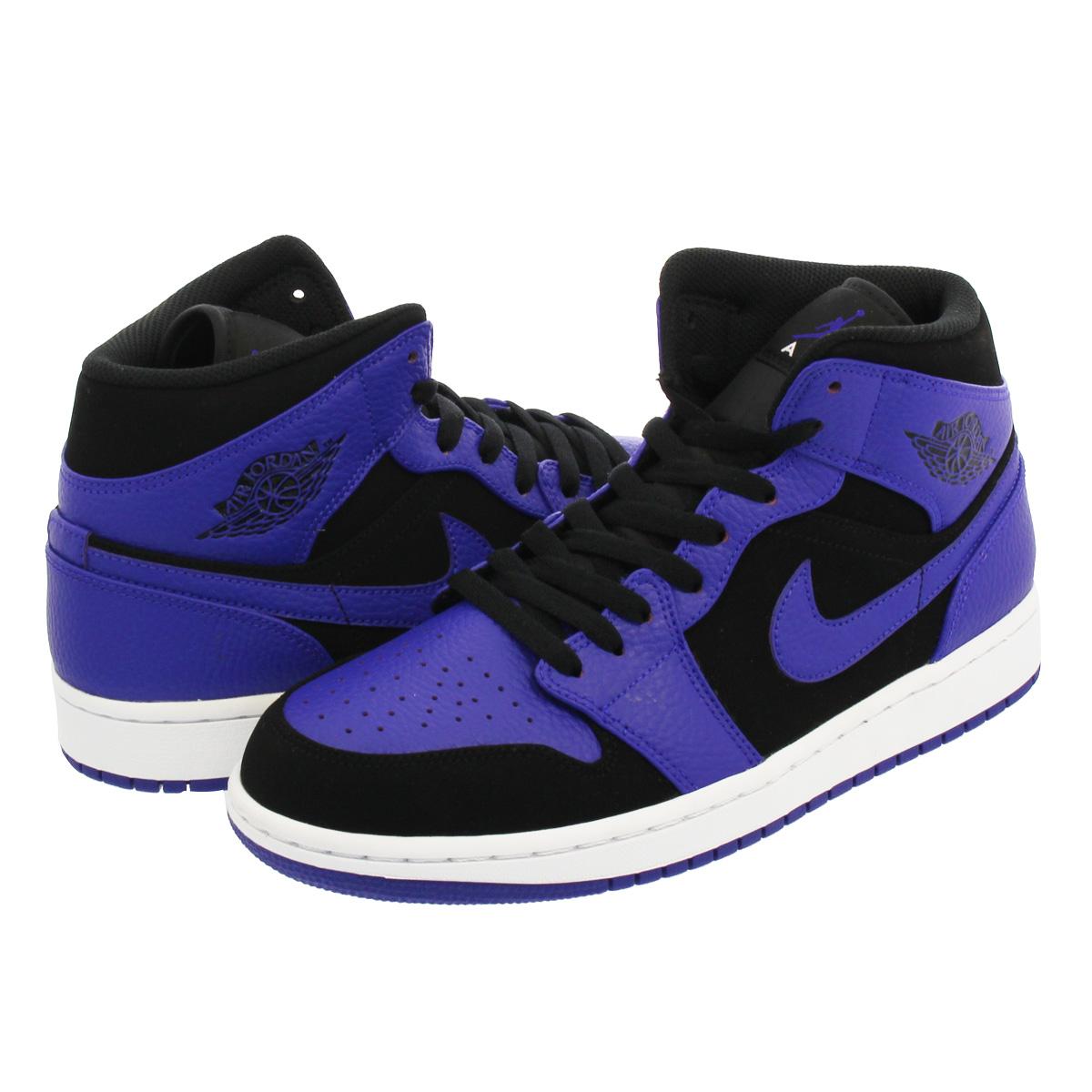 bddd84fad33f NIKE AIR JORDAN 1 MID Nike Air Jordan 1 mid BLACK DARK CONCORD WHITE 554