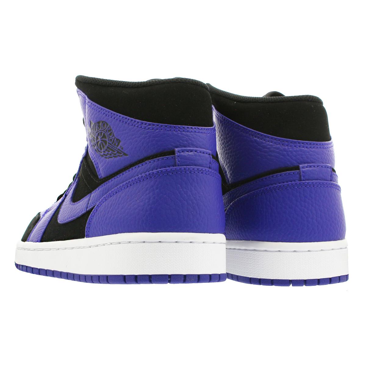 b607a8f9e54c NIKE AIR JORDAN 1 MID Nike Air Jordan 1 mid BLACK DARK CONCORD WHITE  554