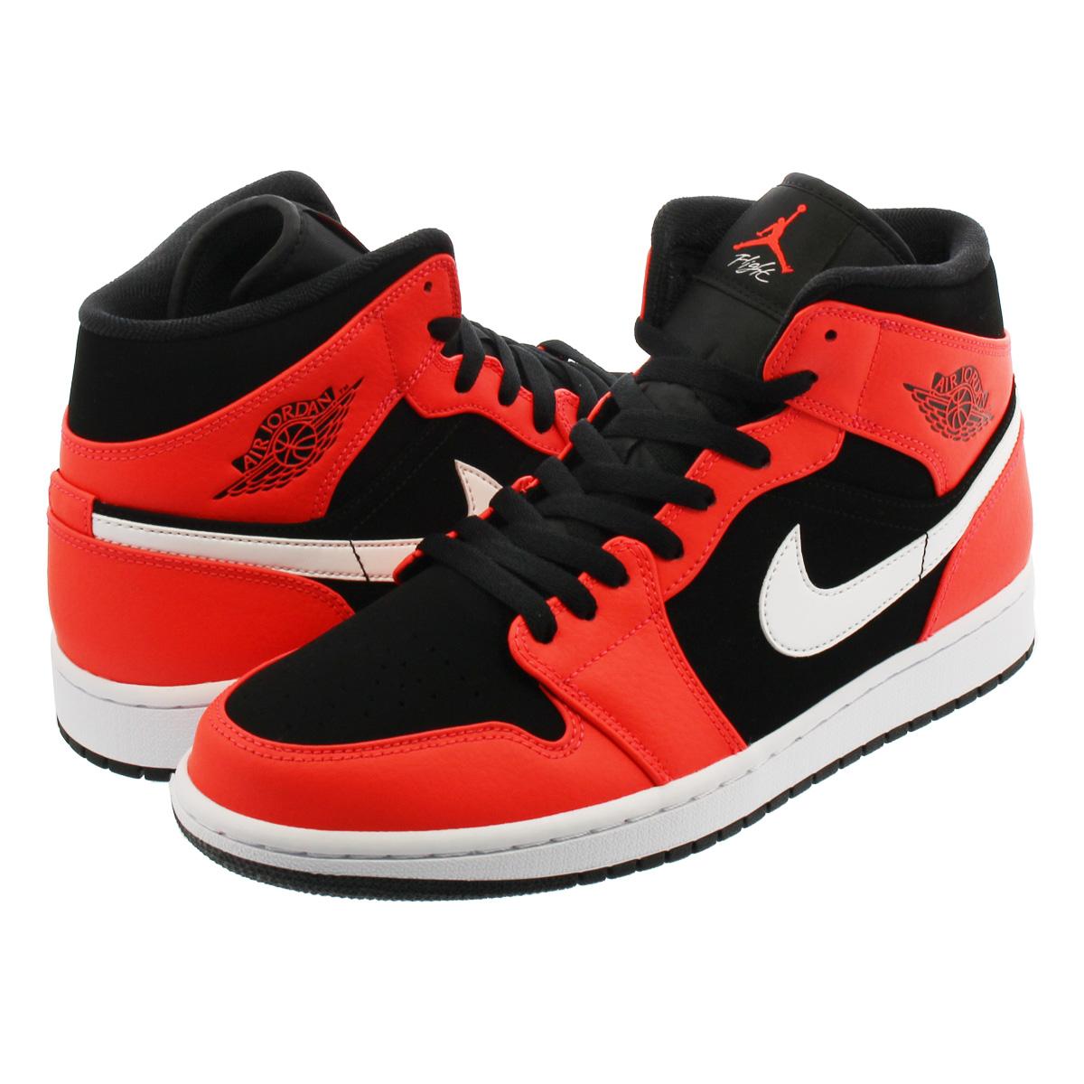 ccfcb684062 NIKE AIR JORDAN 1 MID Nike Air Jordan 1 mid BLACK/INFRARED 23/WHITE ...