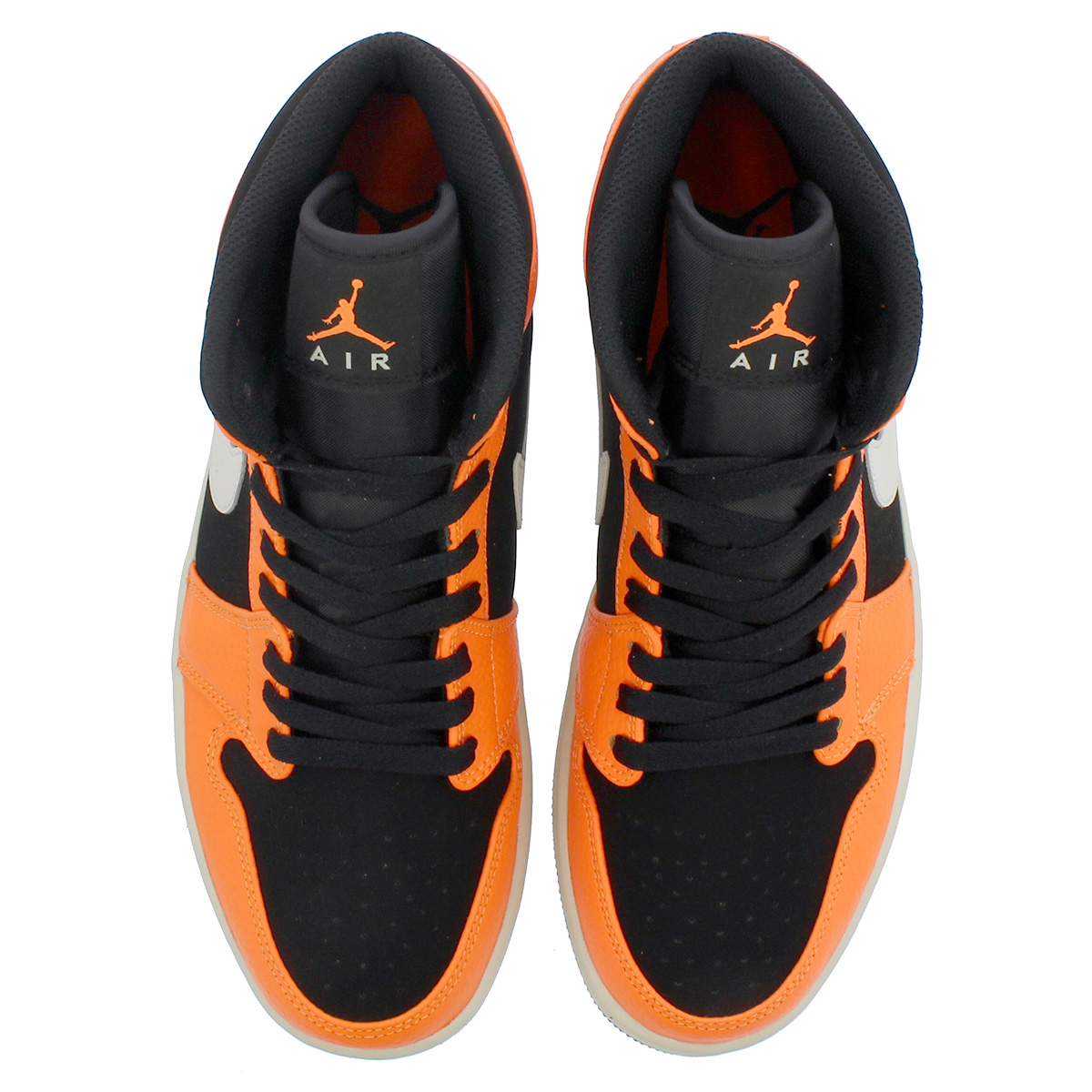 sale retailer a1451 1888e NIKE AIR JORDAN 1 MID Nike Air Jordan 1 mid BLACK CONE LIGHT BONE ORANGE  554,724-062