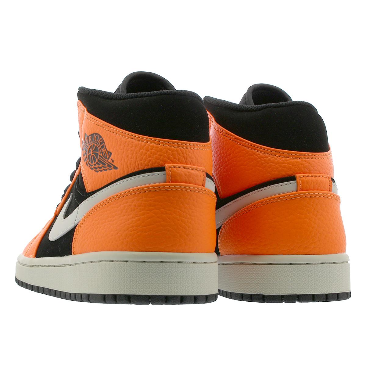 b88e52ff8d8 NIKE AIR JORDAN 1 MID Nike Air Jordan 1 mid BLACK CONE LIGHT BONE ORANGE  554
