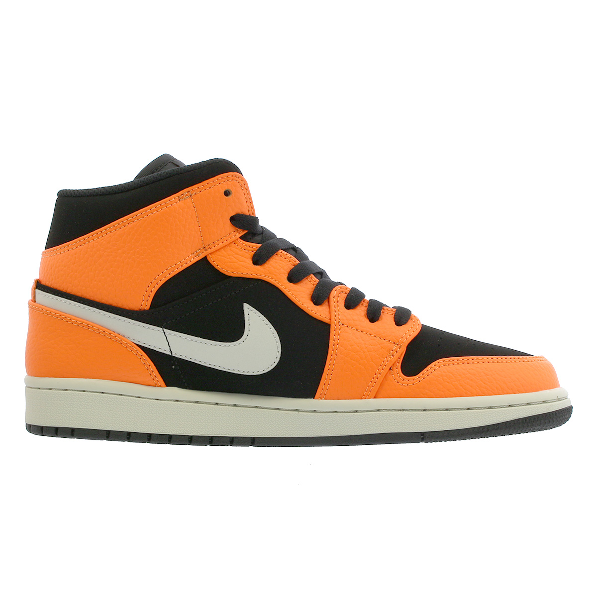 sale retailer 2ae88 ed7d0 NIKE AIR JORDAN 1 MID Nike Air Jordan 1 mid BLACK CONE LIGHT BONE ORANGE  554,724-062