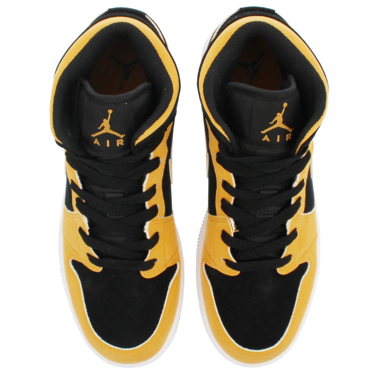 80c7090b75d ... NIKE AIR JORDAN 1 MID BG Nike Air Jordan 1 mid BG BLACK/UNIVERSITY GOLD  ...