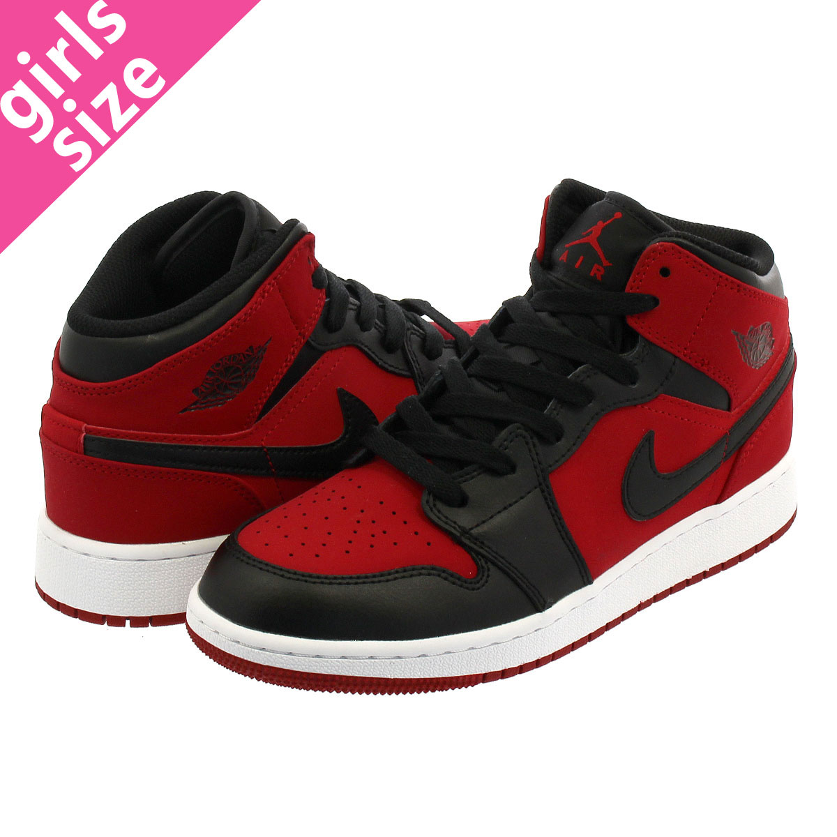 c531739de8e3cf SELECT SHOP LOWTEX  NIKE AIR JORDAN 1 MID GS Nike Air Jordan 1 mid GS GYM  RED BLACK WHITE 554