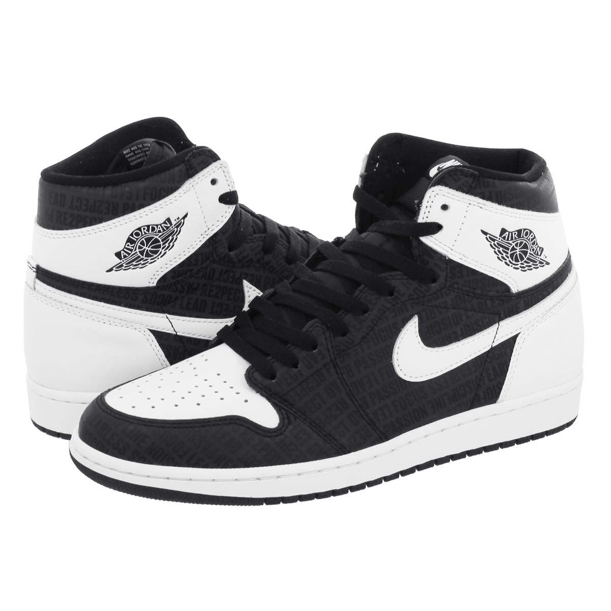 NIKE AIR JORDAN 1 RETRO HIGH OG Nike Air Jordan 1 nostalgic high OG  BLACK/WHITE 555,088-008