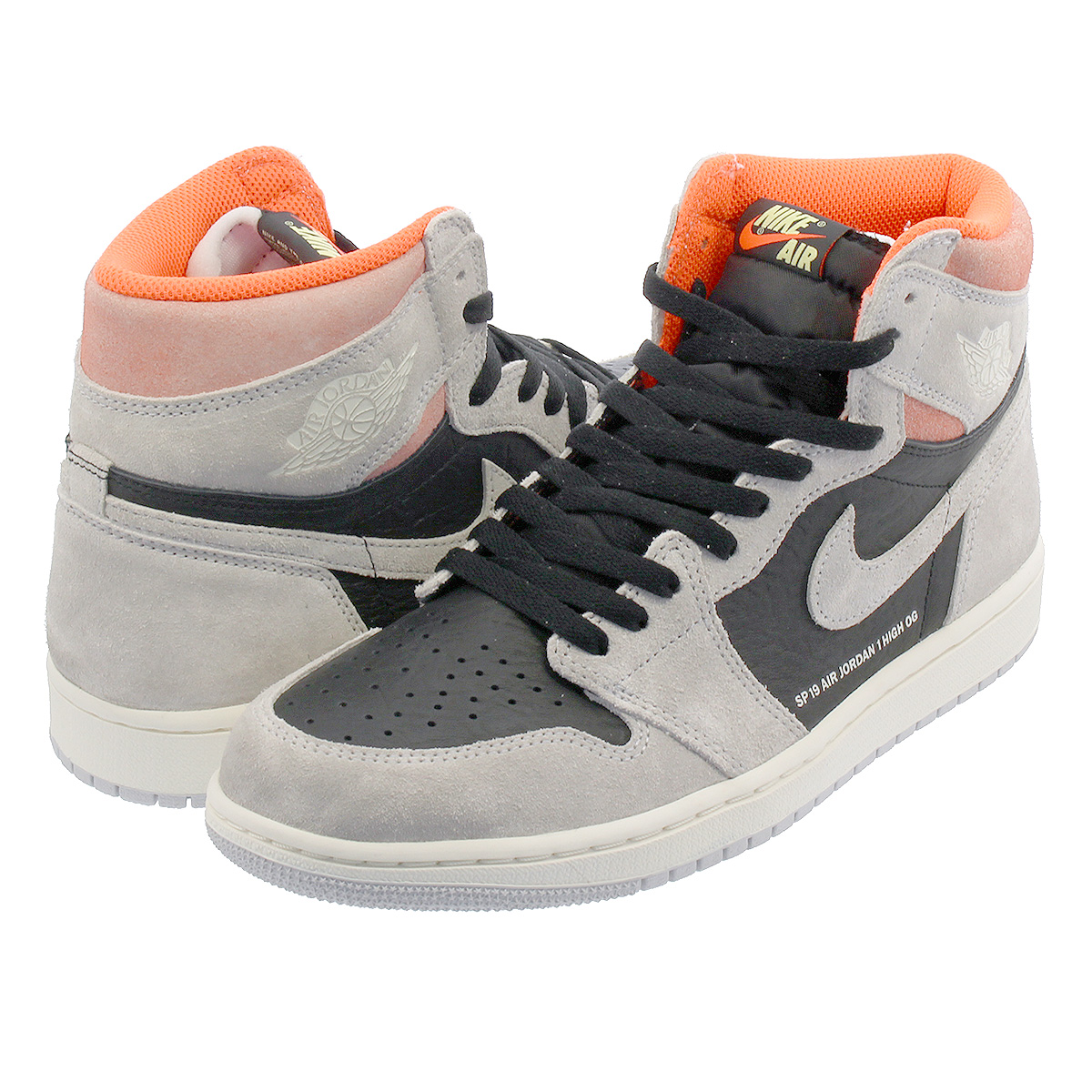80a64fa0a2aa22 NIKE AIR JORDAN 1 RETRO HIGH OG Nike Air Jordan 1 nostalgic high OG NEUTRAL  GREY BLACK 555