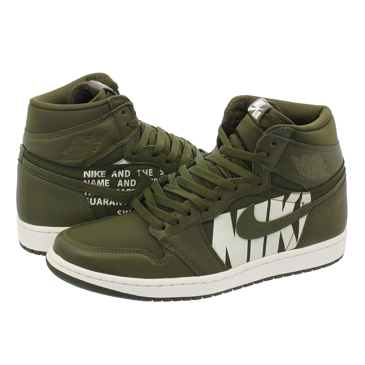 4a0c89072c2dae ... RETRO HIGH OG Nike Air Jordan 1 nostalgic high OG OLIVE CANVAS SAIL  555