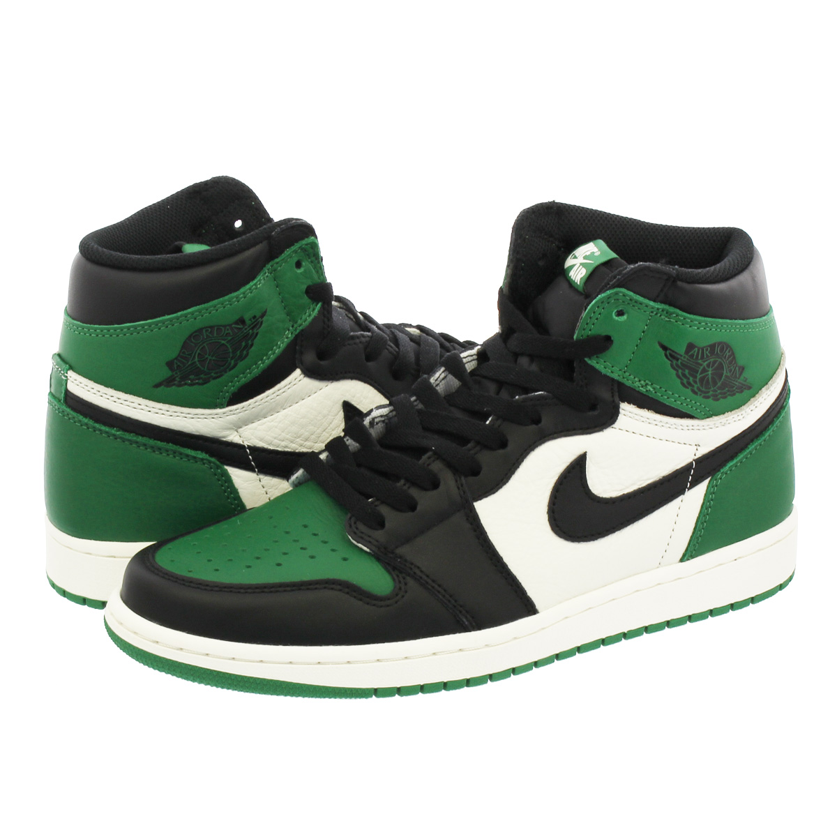 buy popular 14676 fa528 NIKE AIR JORDAN 1 RETRO HIGH OG Nike Air Jordan 1 nostalgic high OG PINE  GREEN/BLACK/SAIL 555,088-302