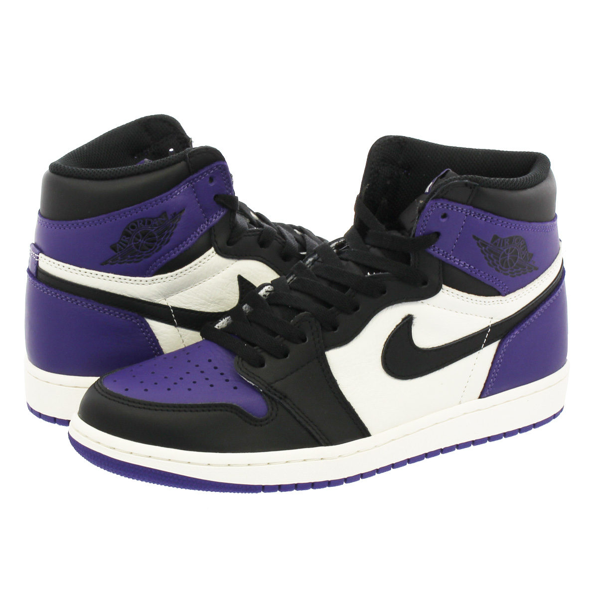 official images discount info for NIKE AIR JORDAN 1 RETRO HIGH OG Nike Air Jordan 1 nostalgic high OG COURT  PURPLE/BLACK/SAIL 555,088-501