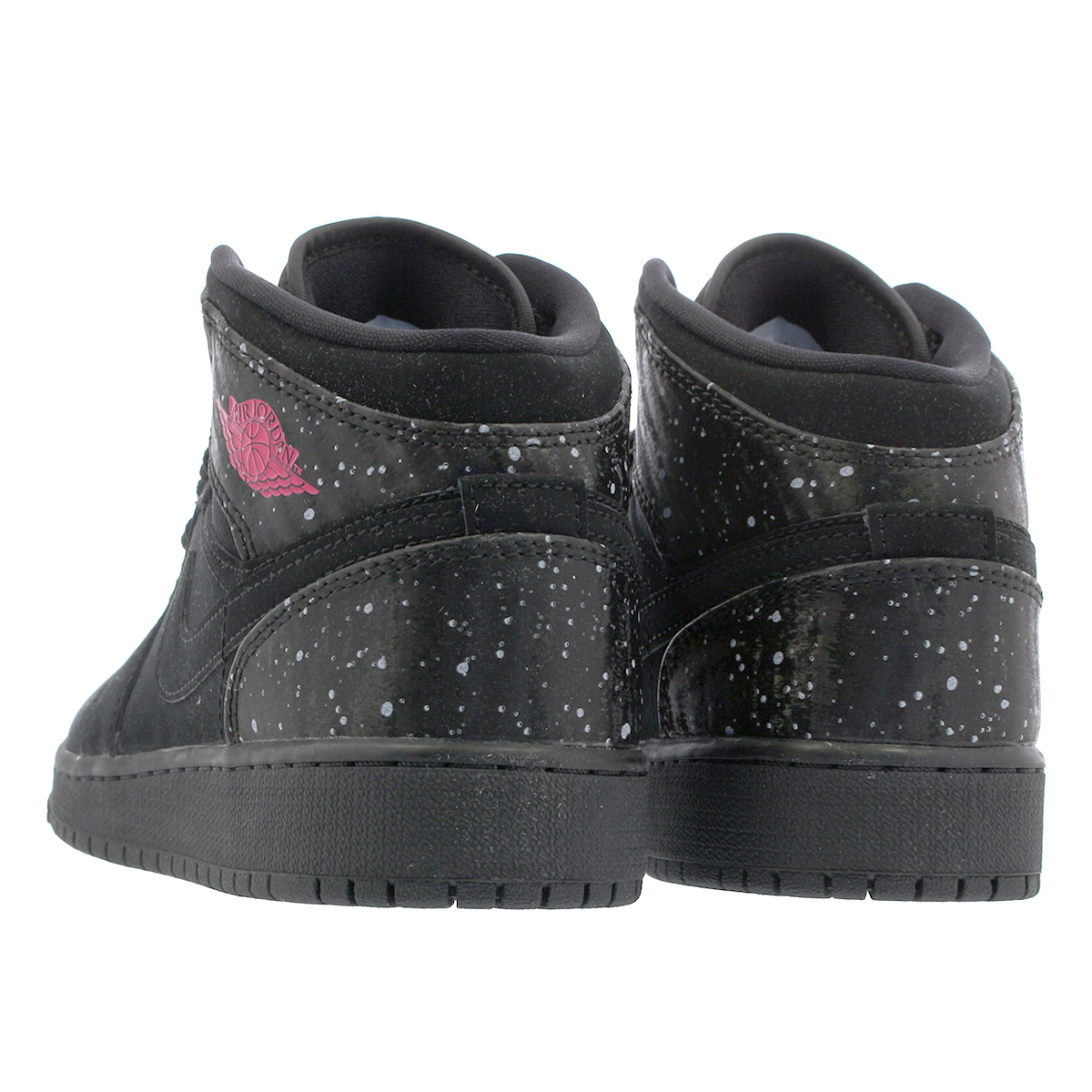 d76a10e8d1f6 NIKE AIR JORDAN 1 MID GG Nike Air Jordan 1 mid GG BLACK WHITE RUSH PINK  555