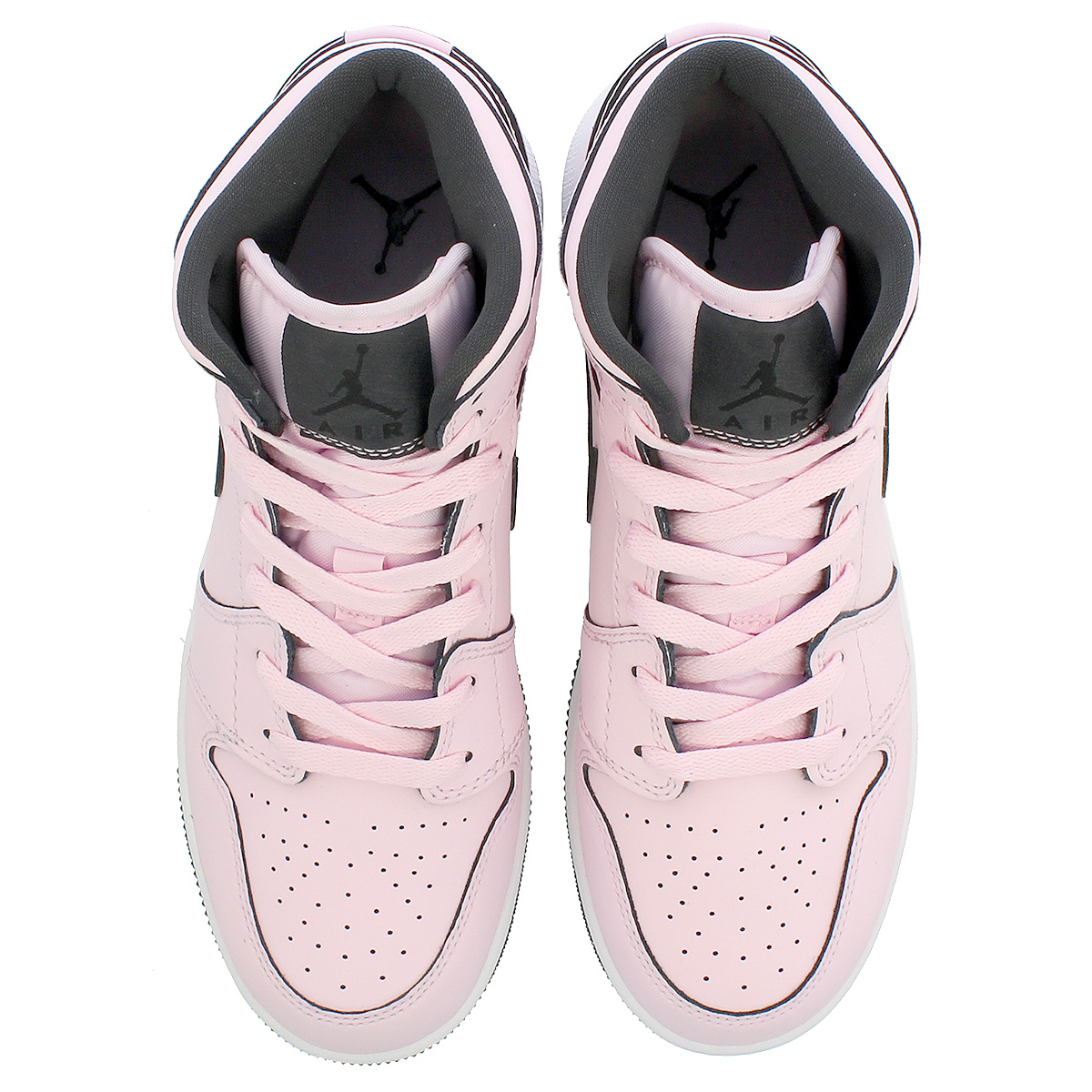 14c9dcf7e110c6 NIKE AIR JORDAN 1 MID GS Nike Air Jordan 1 mid GS PINK FOAM BLACK WHITE  555