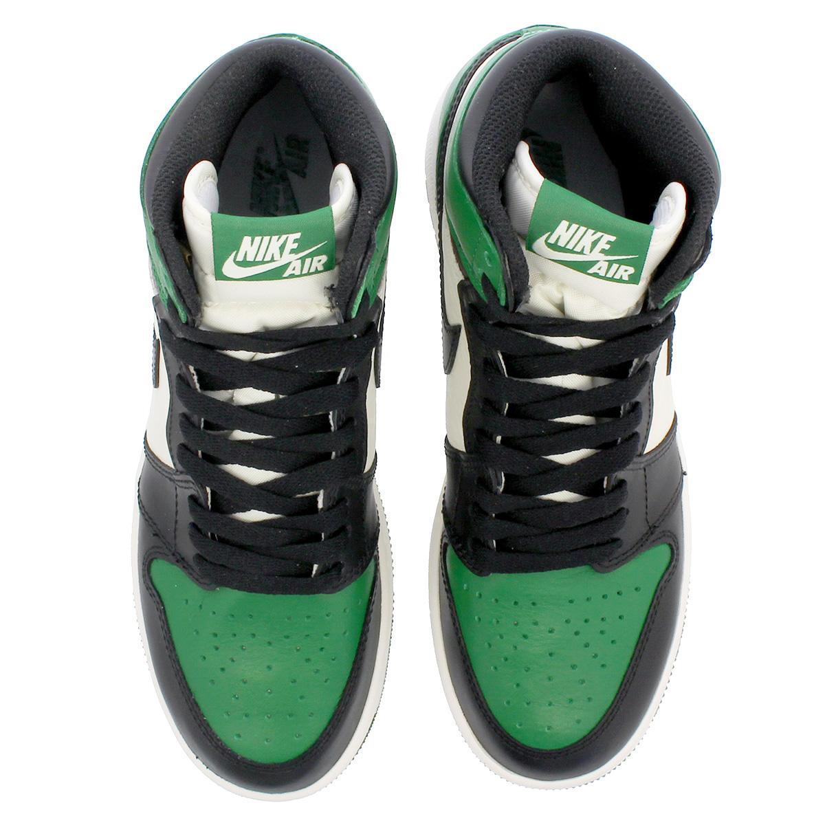 c9e7405b46bb08 NIKE AIR JORDAN 1 RETRO HIGH OG BG Nike Air Jordan 1 nostalgic high OG BG PINE  GREEN BLACK SAIL 575