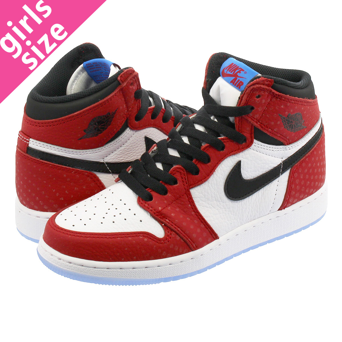 2fd8fecbb7983f NIKE AIR JORDAN 1 RETRO HIGH OG GS Nike Air Jordan 1 nostalgic high OG GS  GYM RED WHITE PHOTO BLUE BLACK