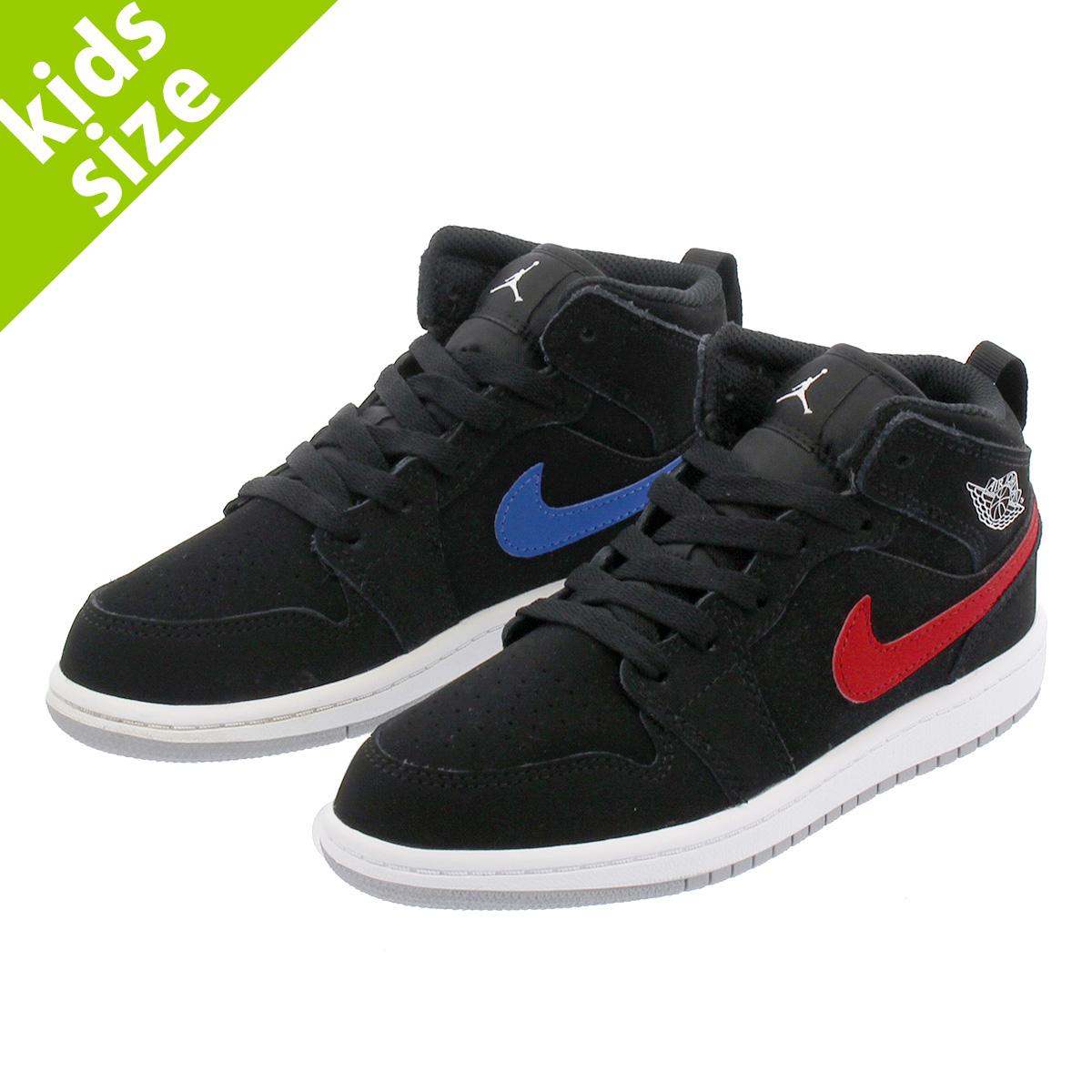 1b13d3dcd3eb53 NIKE AIR JORDAN 1 MID PS Nike Air Jordan 1 mid PS BLACK WHITE RED YELLOW BLUE GREEN  640