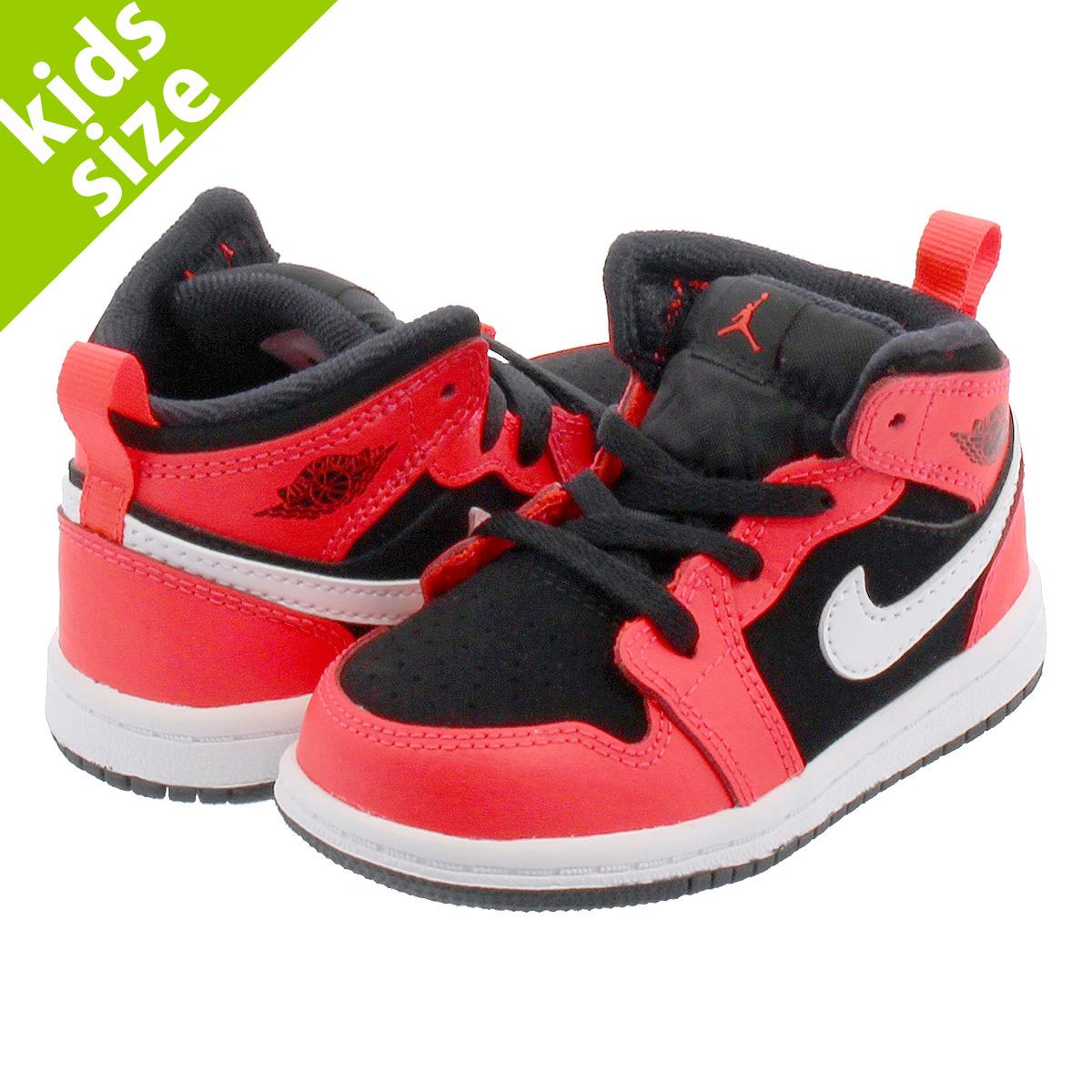 0253d8cf2e5f71 NIKE AIR JORDAN 1 MID BT Nike Air Jordan 1 mid BT BLACK INFRARED 23  640