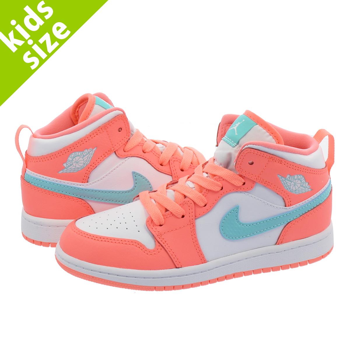 huge discount 9ce8a b2746 NIKE AIR JORDAN 1 MID PS Nike Air Jordan 1 mid PS CRIMSON PINK/PULSE GREEN  640,737-814