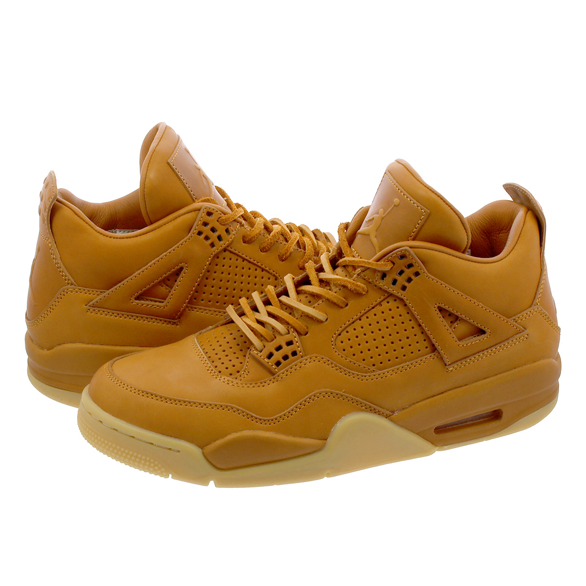 newest 5a4f5 a9858 NIKE AIR JORDAN 4 PREMIUM Nike air Jordan 4 nostalgic premium GINGER/GUM  YELLOW 819,139-205