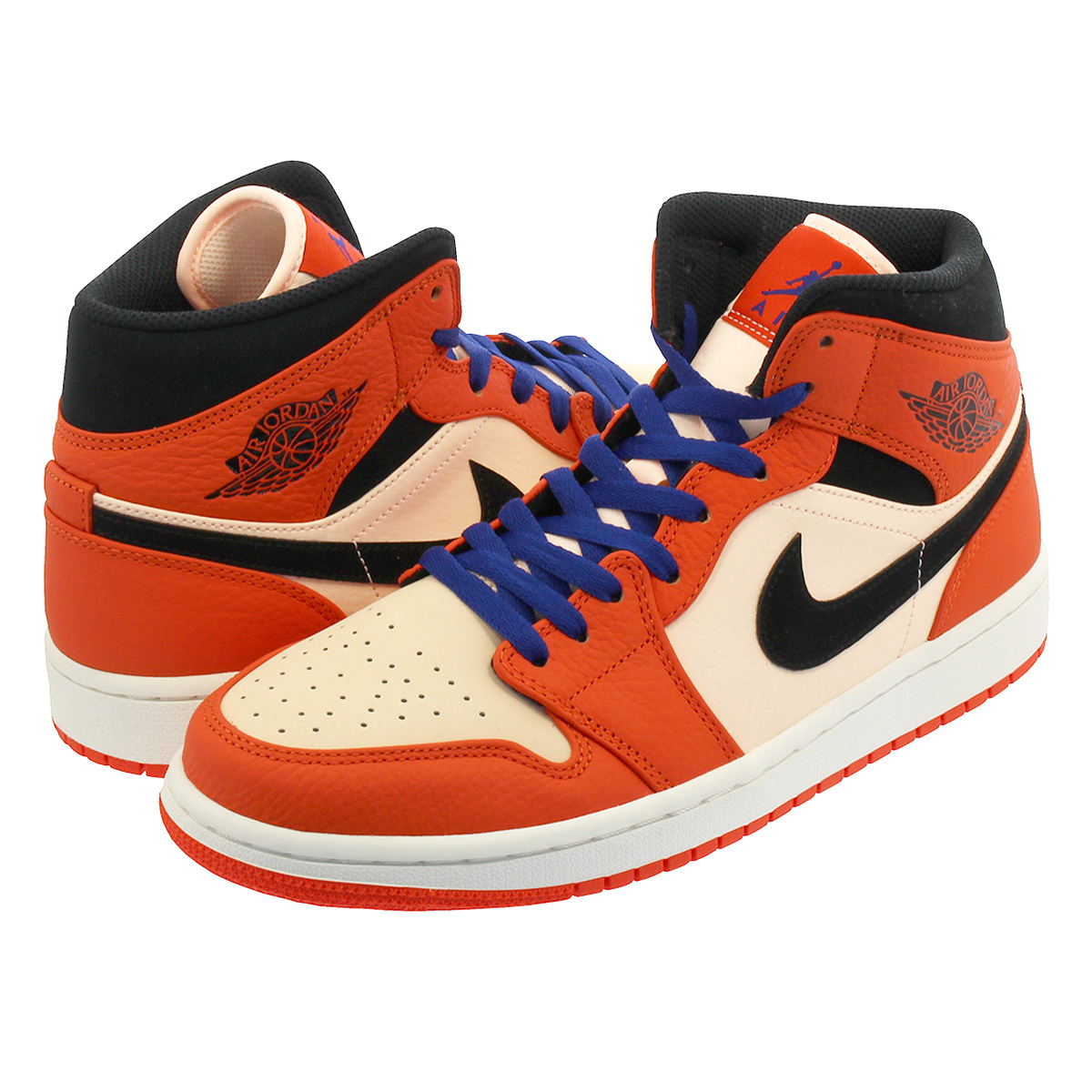 air jordan 1 mid orange et noir