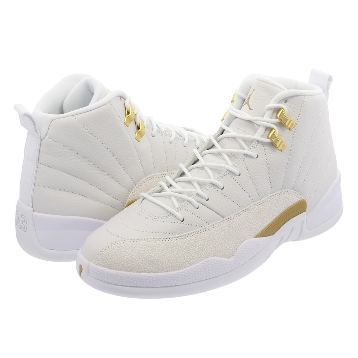 competitive price 382a9 39e33 NIKE AIR JORDAN 12 RETRO Nike Air Jordan 12 nostalgic WHITE/METALLIC GOLD  873,864-102
