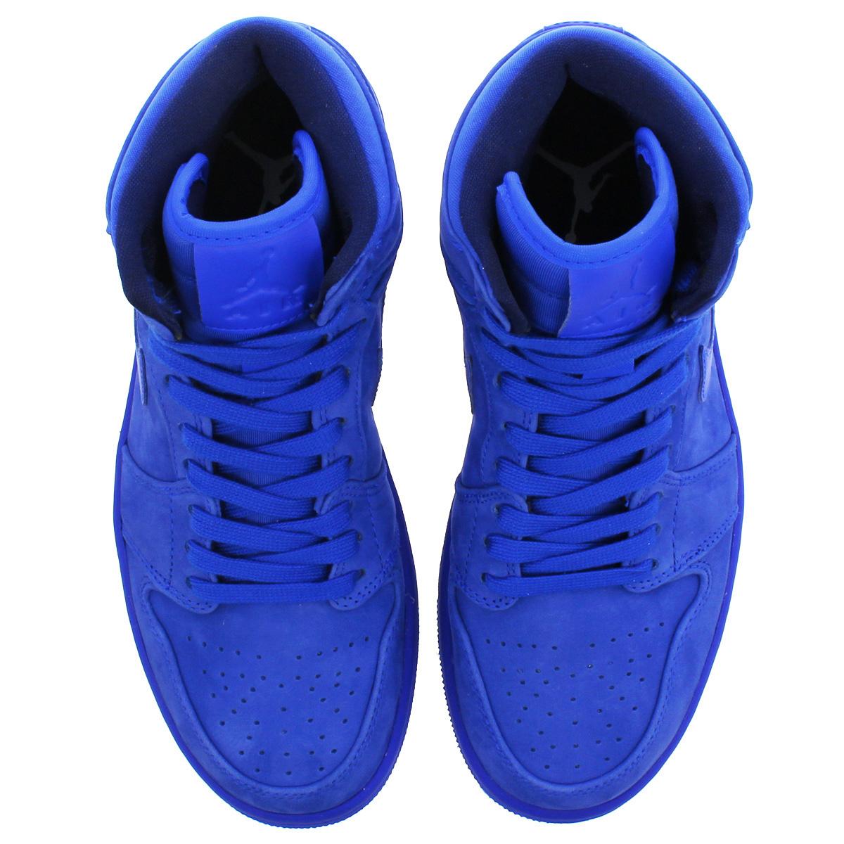 44e93f4bf21 NIKE WMNS AIR JORDAN 1 RETRO HI PREMIUM Nike women Air Jordan 1 nostalgic  high premium BLUE BLUE ah7389-400