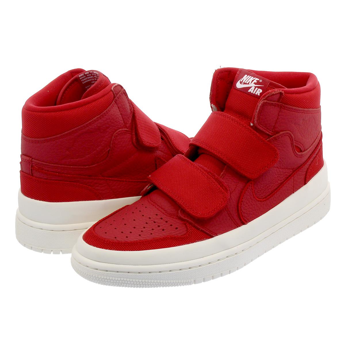 NIKE AIR JORDAN 1 RETRO HI DOUBLE STRP Nike Air Jordan 1 nostalgic high  double trap GYM RED GYM RED SAIL WHITE aq7924-601 5d2db97934b