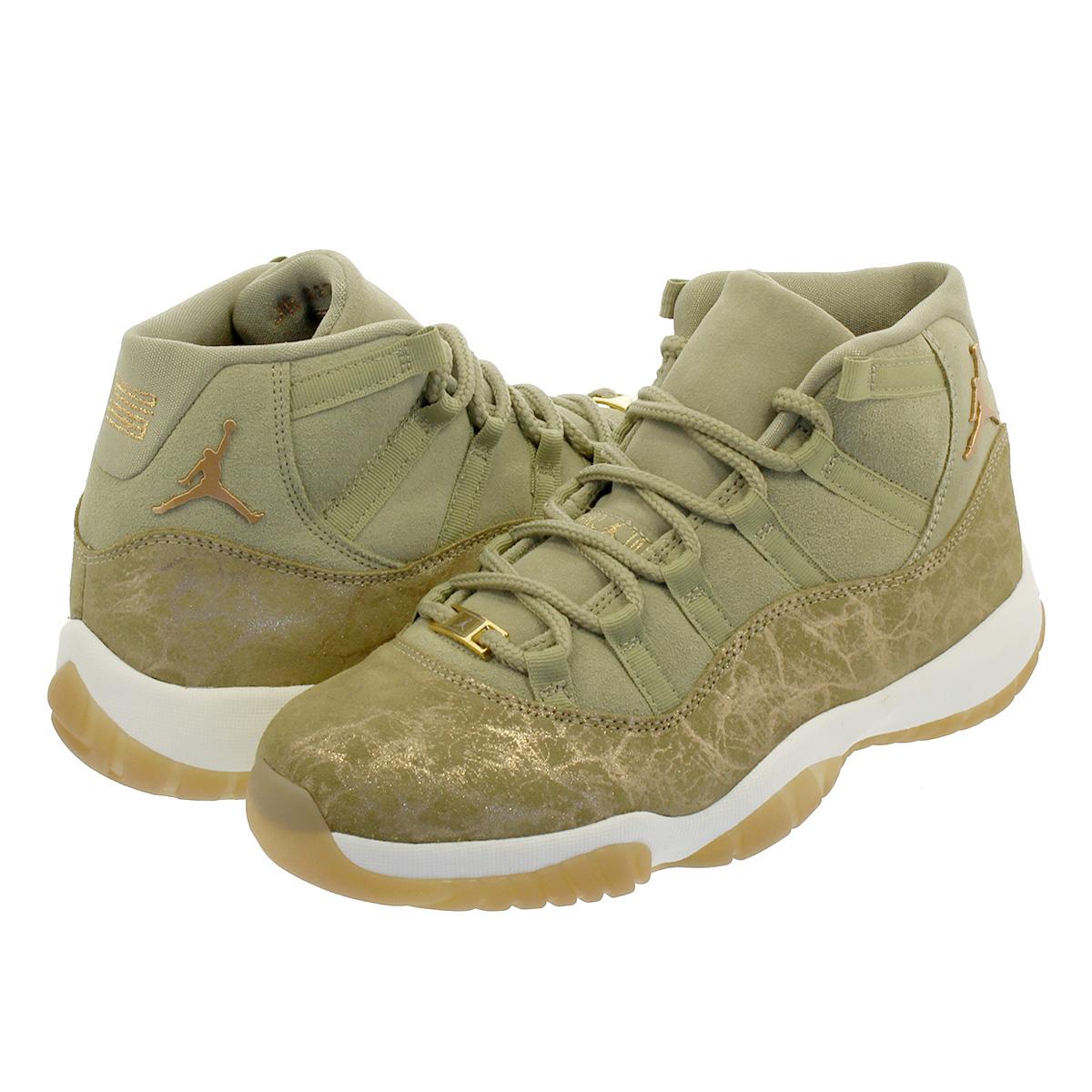 separation shoes a4f9d b8469 NIKE WMNS AIR JORDAN 11 RETRO Nike women Air Jordan 11 nostalgic NEUTRAL  OLIVE/MTLC STOUT/SAIL ar0715-200