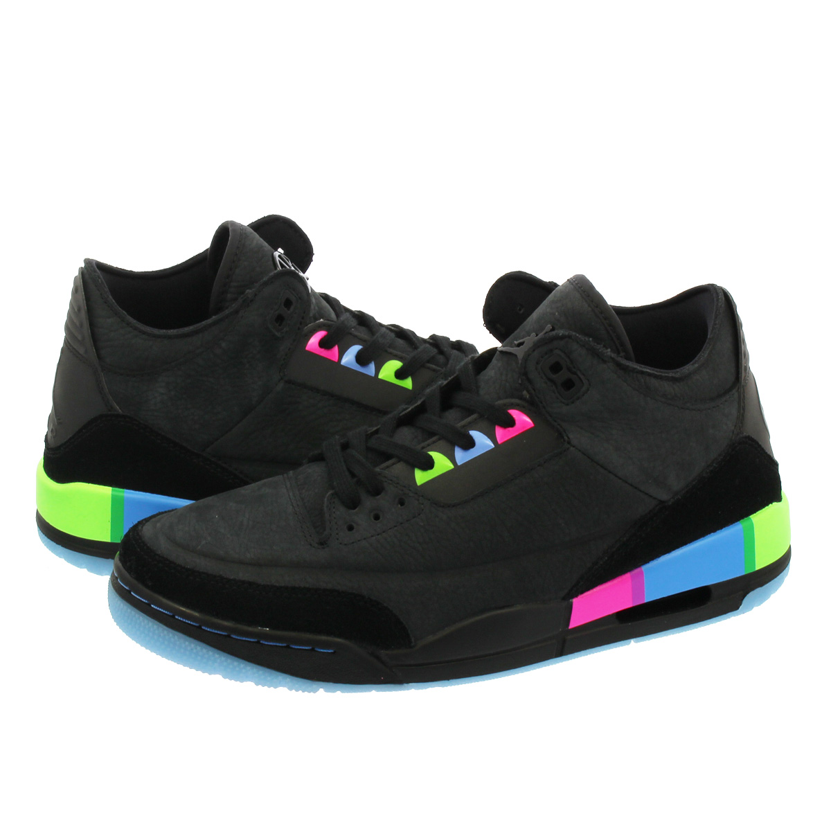 f5e46879bec0 NIKE AIR JORDAN 3 RETRO Nike Air Jordan 3 nostalgic BLACK ELECTRIC GREEN  at9195-001