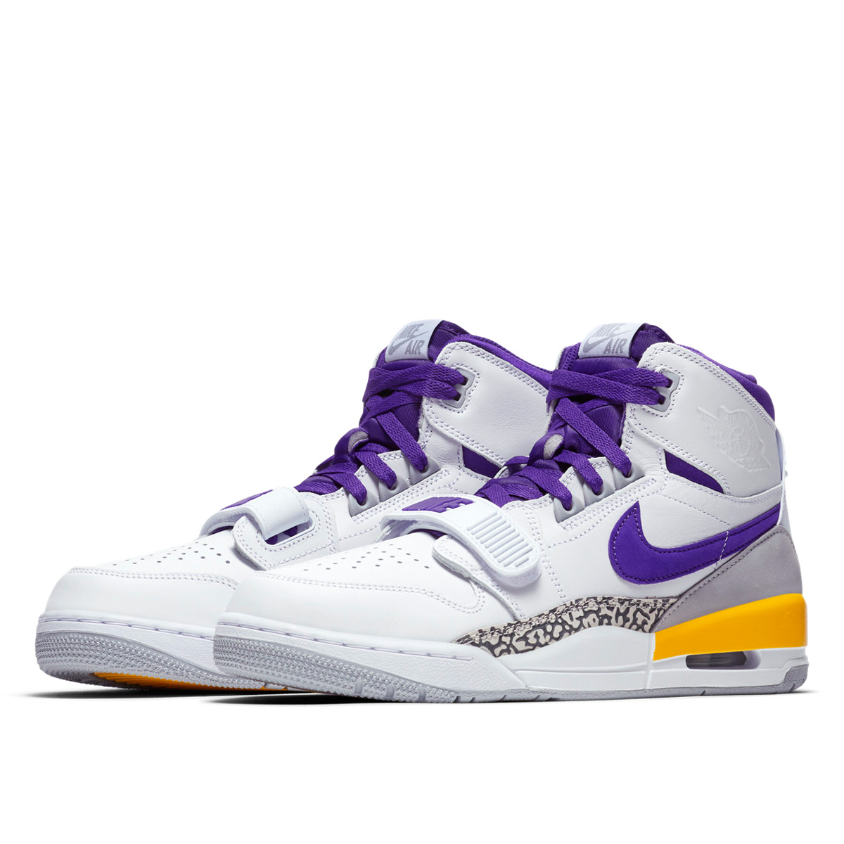 c159dad575c NIKE AIR JORDAN LEGACY 312 WHITE/FIELD PURPLE/AMARILLO av3922-157