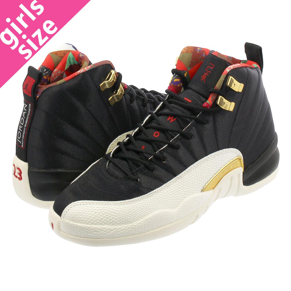 4e8141bbcfa3 NIKE AIR JORDAN 12 RETRO GS Nike Air Jordan 12 nostalgic GS  BLACK SAIL METALLIC GOLD TRUE RED bq6497-006