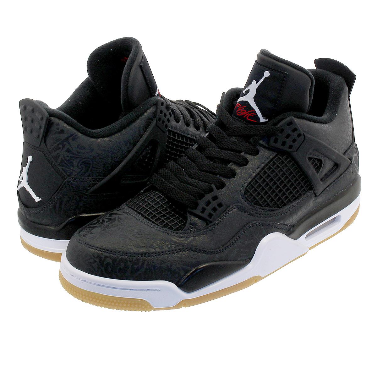 NIKE AIR JORDAN 4 RETRO SE LASER Nike Air Jordan 4 nostalgic SE laser BLACK  WHITE GUM LIGHT BROWN ci1184-001 3d7d857a765