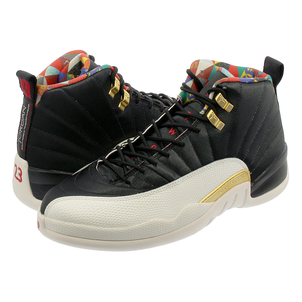 NIKE AIR JORDAN 12 RETRO Nike Air Jordan 12 nostalgic BLACK TRUE RED SAIL METALLIC  GOLD ci2977-006 e78c79dd753