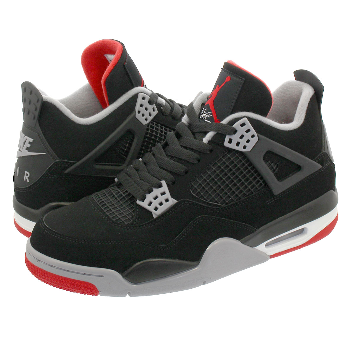 NIKE AIR JORDAN 4 RETRO 【BRED】 ナイキ エア ジョーダン 4 レトロ BLACK/CEMENT GREY/SUMMIT WHITE/FIRE RED 308497-060