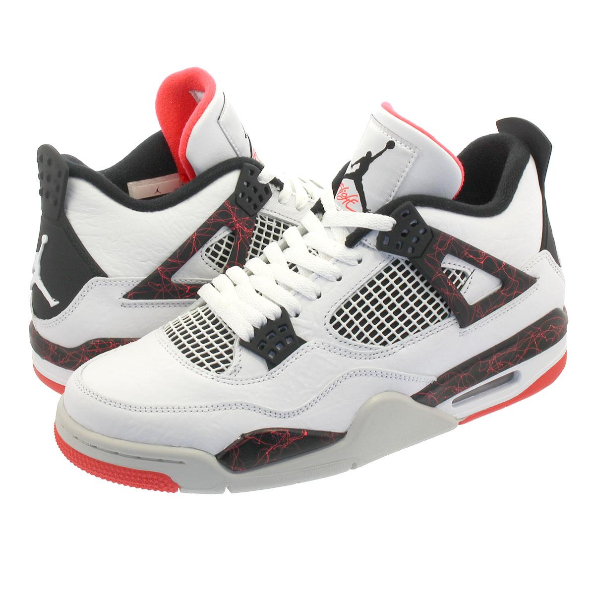 official photos 12e01 0ce27 NIKE AIR JORDAN 4 RETRO Nike air Jordan 4 nostalgic WHITE BLACK LIGHT  CRIMSON PALE CITRON 308,497-116