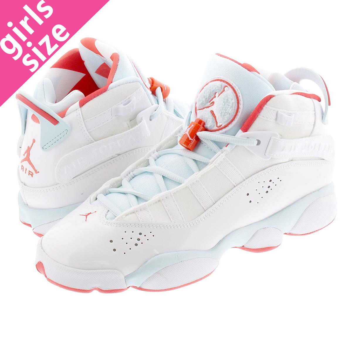 check out a2a0b b31ab NIKE AIR JORDAN 6 RINGS GS Nike Air Jordan 6 RINGS Co.,Ltd. GS WHITE/EMBER  GLOW/TOPAZ MIST 323,399-104