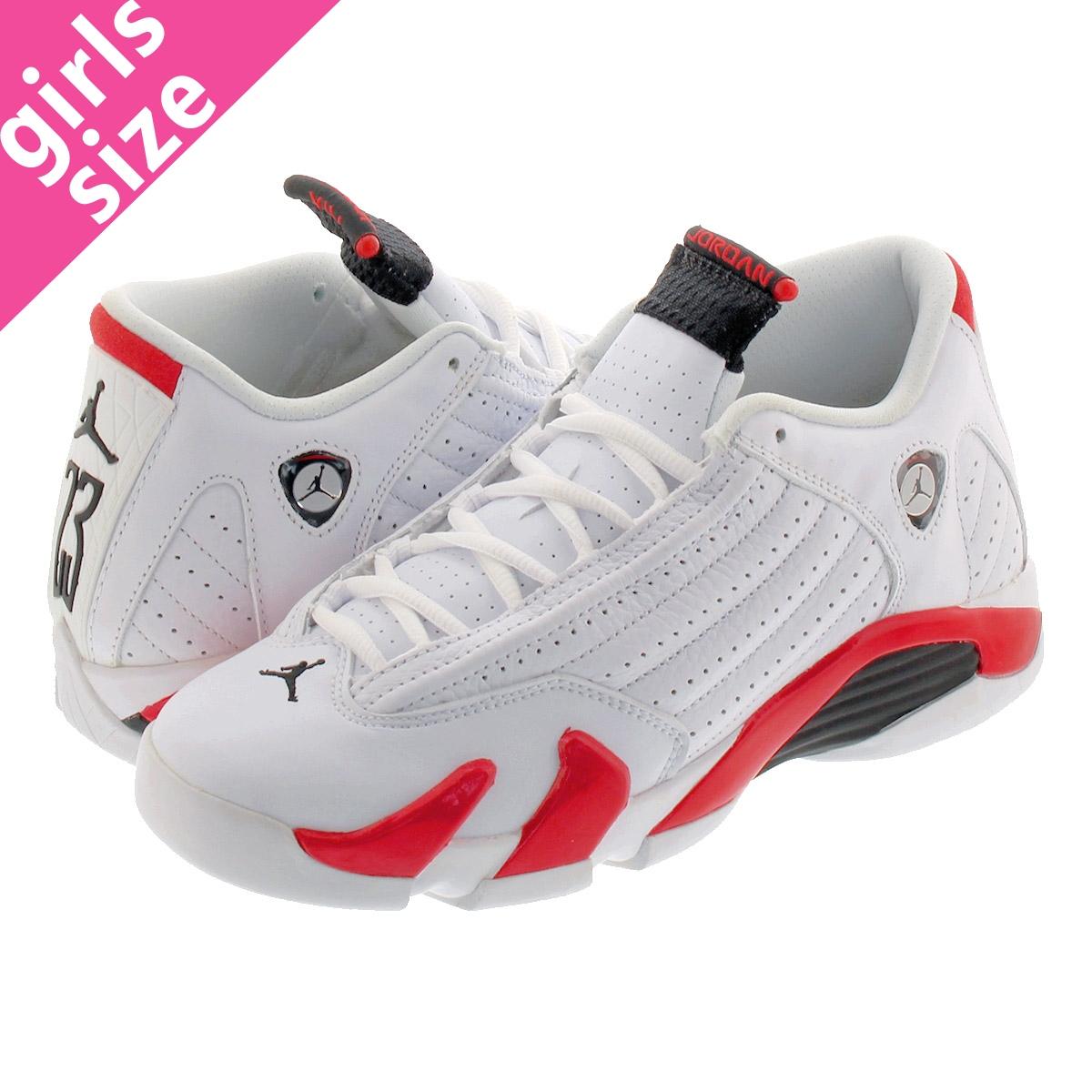 info for 1584b 05368 NIKE AIR JORDAN 14 RETRO BG Nike Air Jordan 14 nostalgic BG WHITE BLACK VARSITY  RED MTLC SILVER 487,524-100