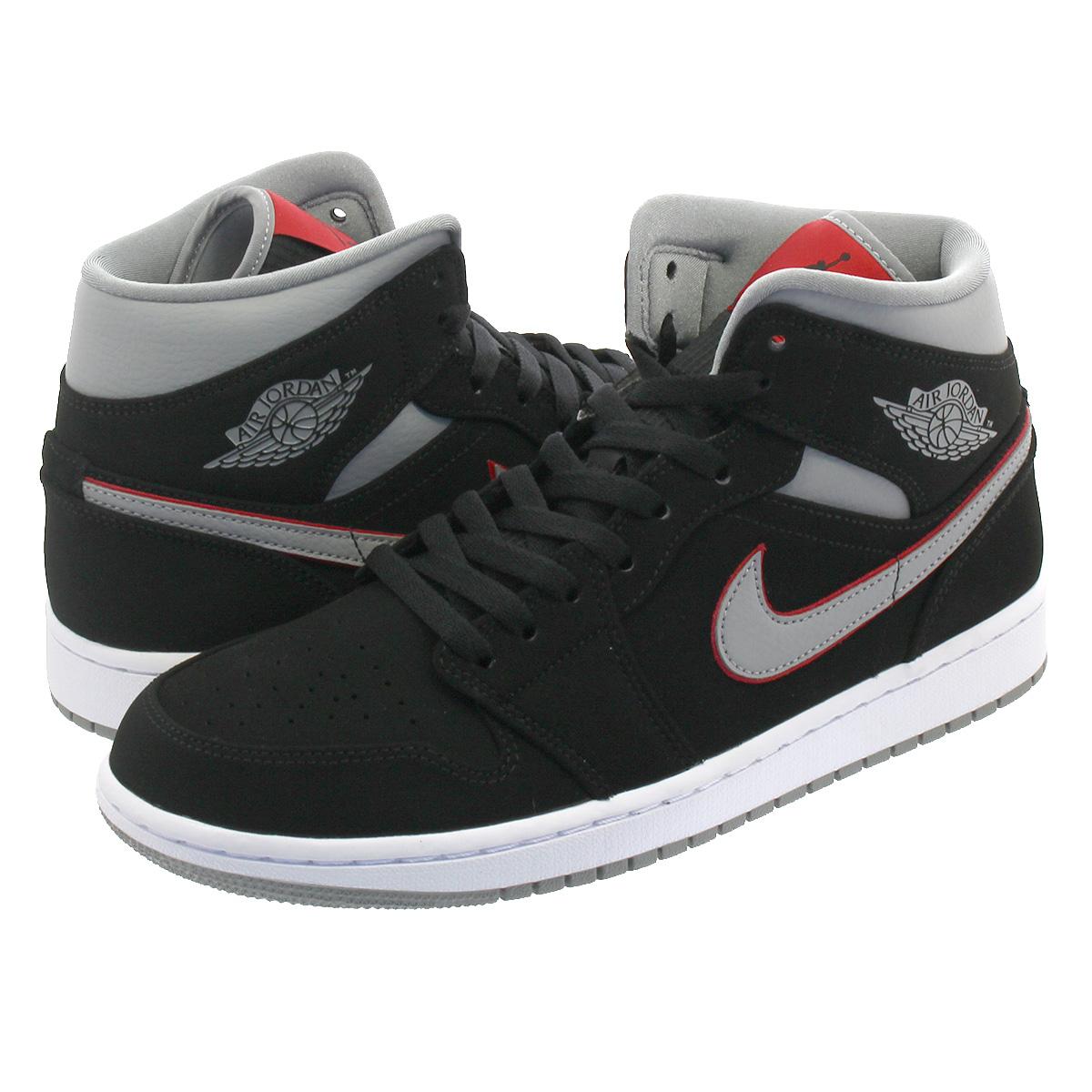 size 40 5ad57 a5e04 NIKE AIR JORDAN 1 MID Nike Air Jordan 1 mid BLACK/PARTICLE GREY/WHITE/GYM  RED 554,724-060