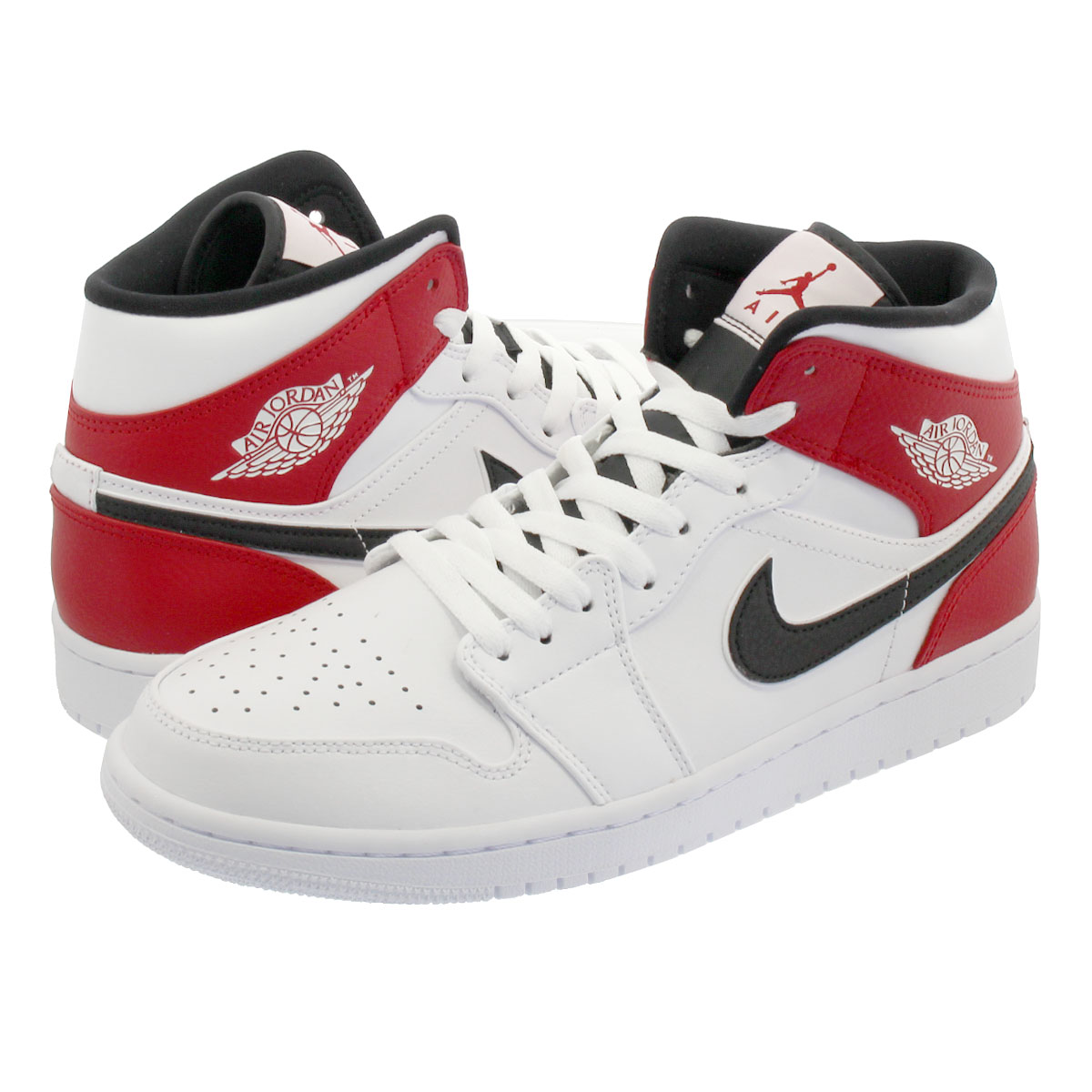 Women's Shoes Athletic Shoes Latest Collection Of Nike Air Jordan 1 Mid Gs White Black Gym Red Chicago Kids Womens Aj1 554725-116