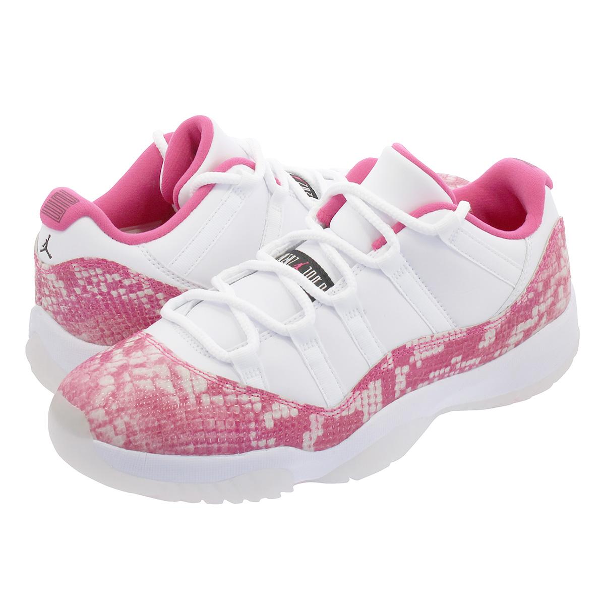 half off 2e495 043e9 NIKE WMNS AIR JORDAN 11 LOW Nike women Air Jordan 11 low WHITE/BLACK/RUST  PINK ah7860-106