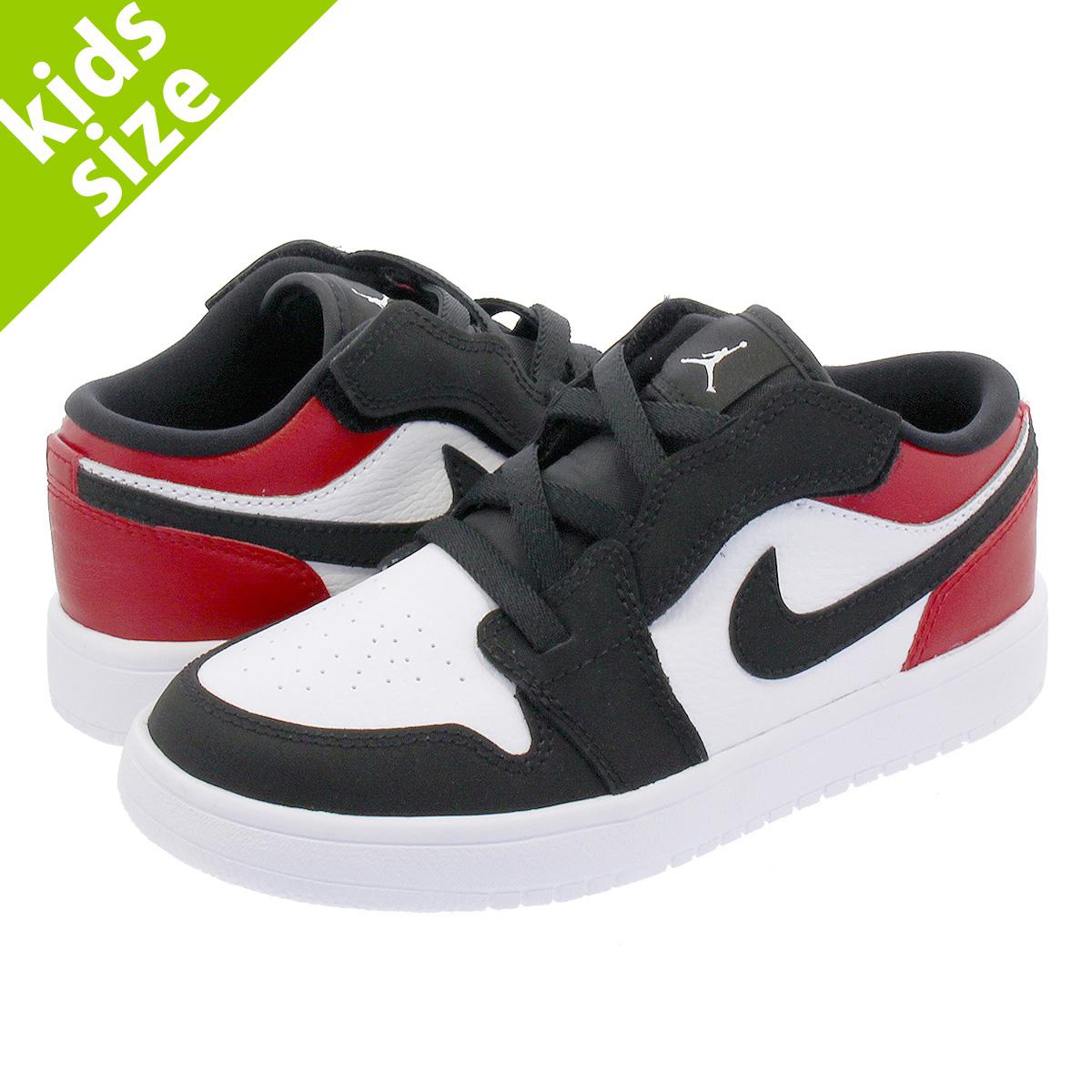 45f0cd5a4a8617 NIKE AIR JORDAN 1 LOW ALT PS Nike Air Jordan 1 low ALT PS WHITE BLACK GYM  RED bq6066-116