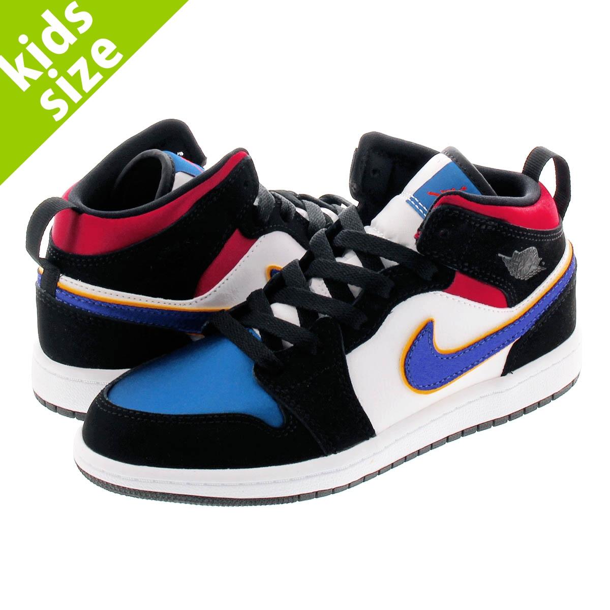 promo code e79c7 37a43 NIKE AIR JORDAN 1 MID SE PS Nike Air Jordan 1 mid SE PS BLACK/FIELD  PURPLE/WHITE/GYM RED bq6932-005