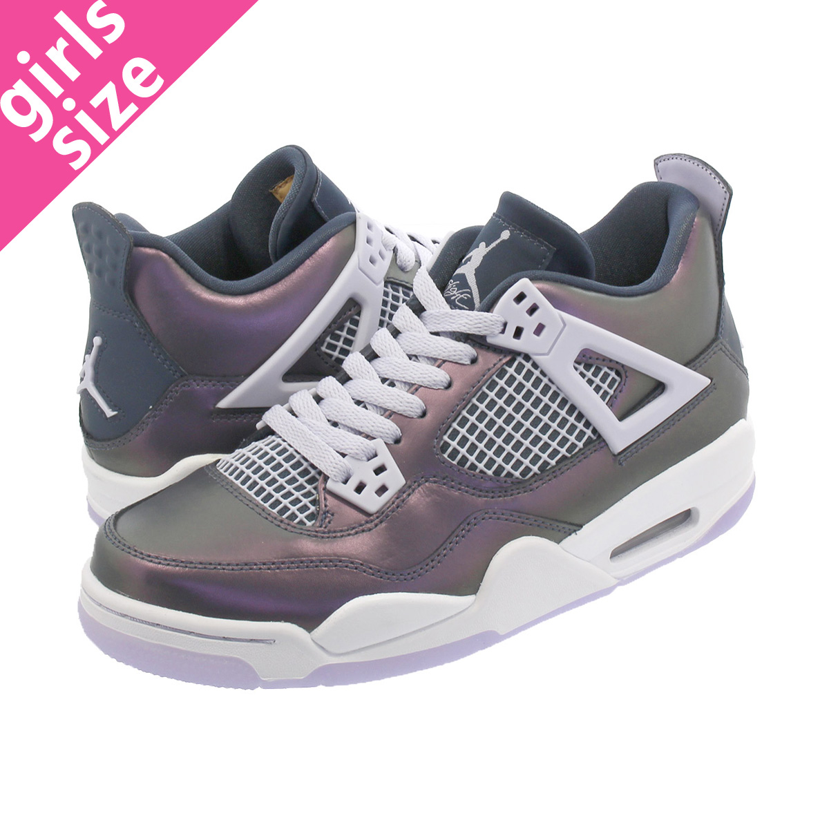 NIKE AIR JORDAN 4 RETRO SE GS ナイキ エアージョーダン4 レトロ SE GS MONSOON BLUE/ARMORY BLUE/MELON TINT bq9043-400