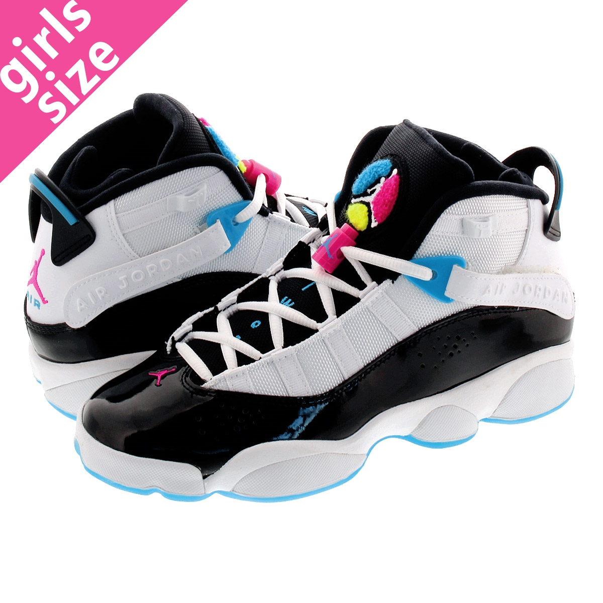 NIKE JORDAN 6 RINGS GS ナイキ ジョーダン 6リングス GS WHITE/BLACK/HYPER PINK ck0025-100