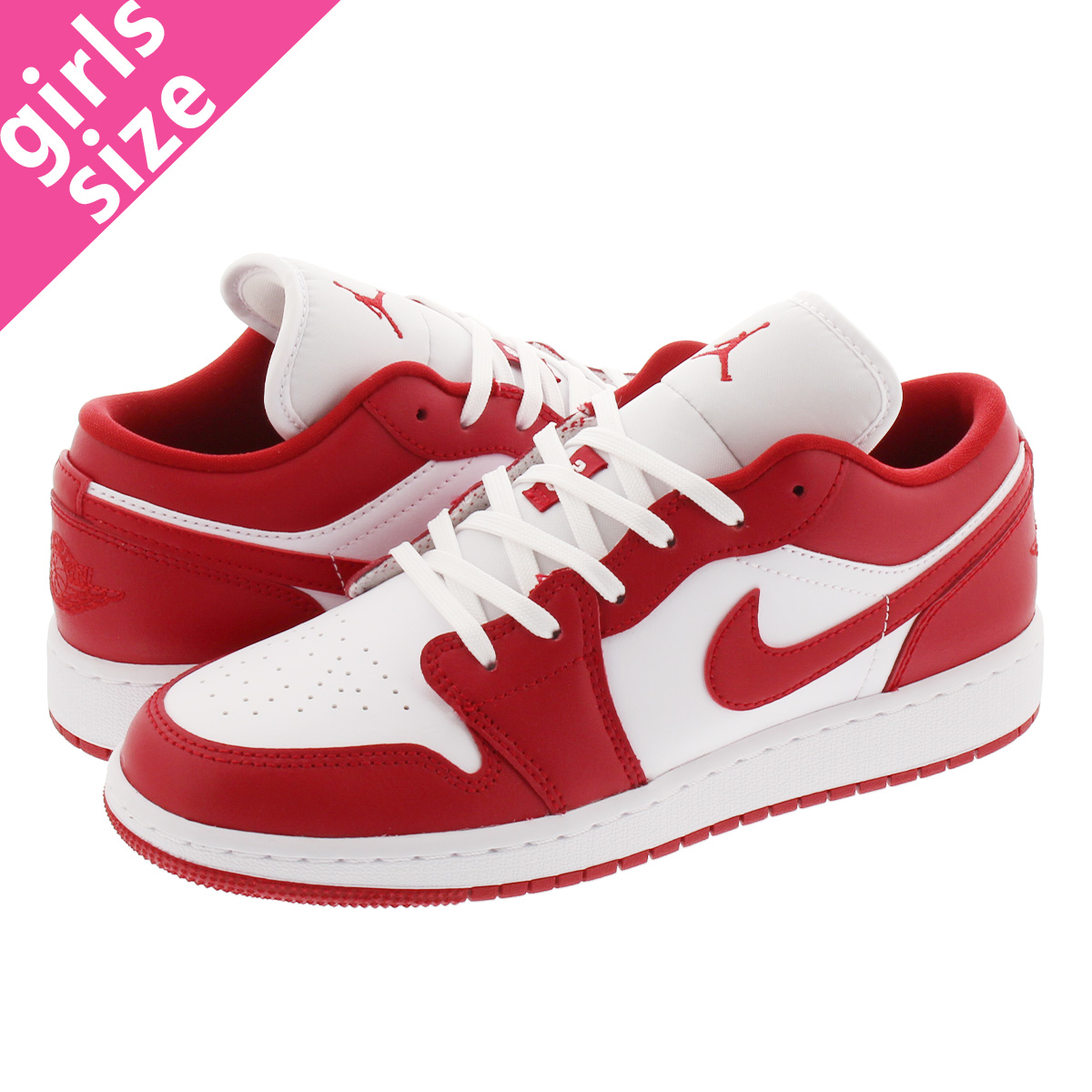 NIKE AIR JORDAN 1 LOW GS ナイキ エア ジョーダン 1 ロー GS GYM RED/WHITE 553560-611