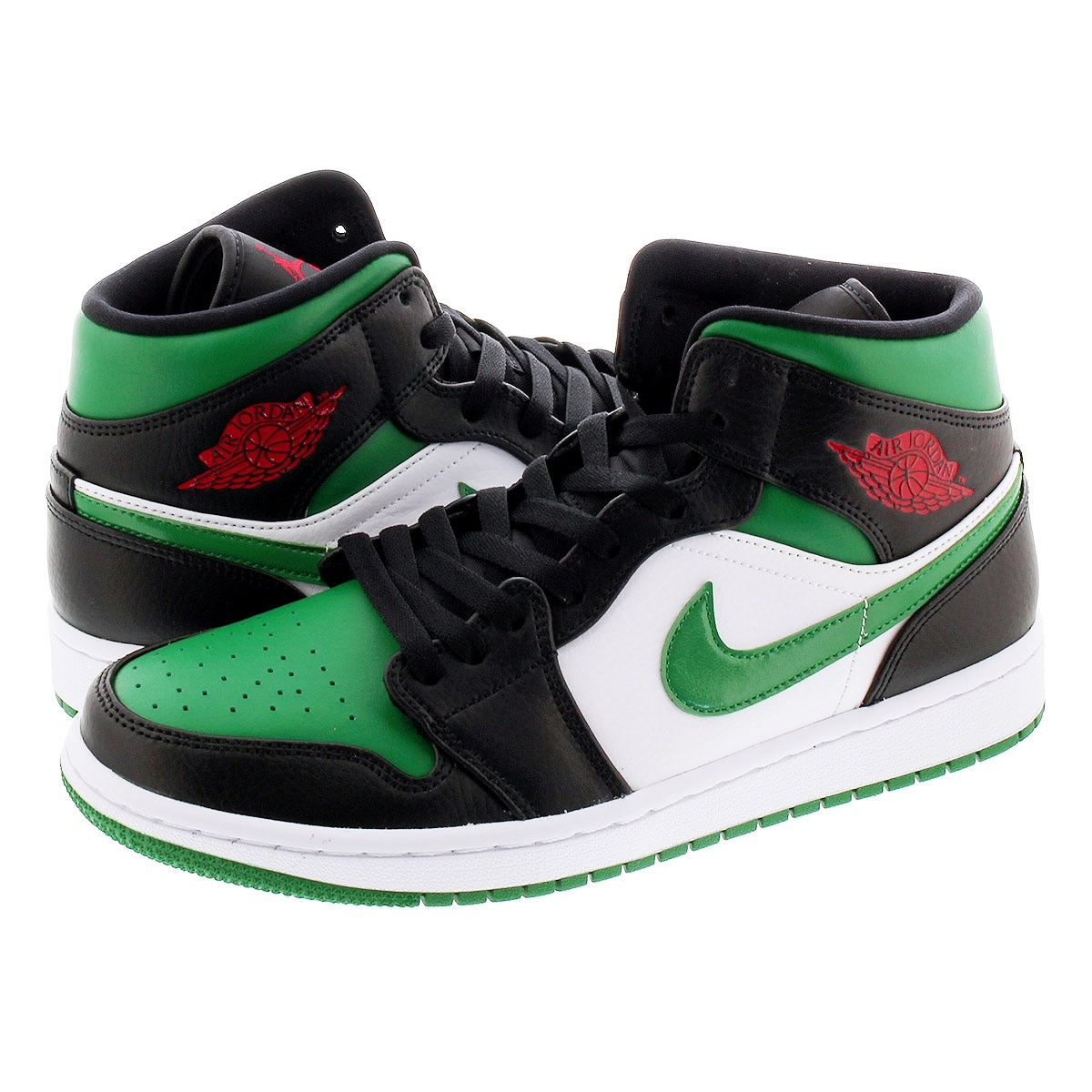 NIKE AIR JORDAN 1 MID ナイキ エア ジョーダン 1 ミッド BLACK/PINE GREEN/WHITE/GYM RED 554724-067
