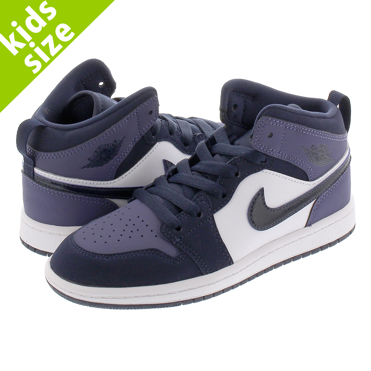 best value finest selection many fashionable NIKE AIR JORDAN 1 MID PS Nike Air Jordan 1 mid PS OBSIDIAN/SANDED PURPLE  640,734-445
